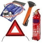 Shop our full range of car safety accessories, including torches, hazard lights, fire extinguishers, first aid kits, lifehammers, foot pumps, roadside triangles and hi-vis jackets.