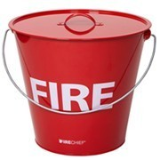 Shop our range of fire buckets to tackle small fires in your building