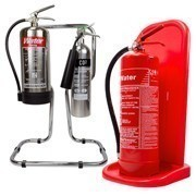 Shop our range of fire extinguisher stands to store your fire extinguishers safely and securely
