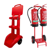 Shop our range of extinguisher trolleys to move fire extinguishers with ease