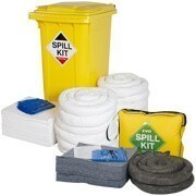 Spill kits available in various sizes for most types of liquids for spill and leak protection.
