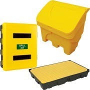 Shop our range of spill kit containers and grit bins to help you prevent slips on ice and liquid in the workplace, in any weather.