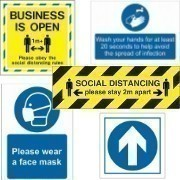 Shop out complete range of social distancing signs and hygiene signs, designed to promote health and cleanliness in your business.