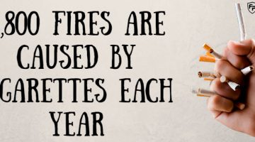 2,800 Fires Are Caused By Cigarettes Each Year