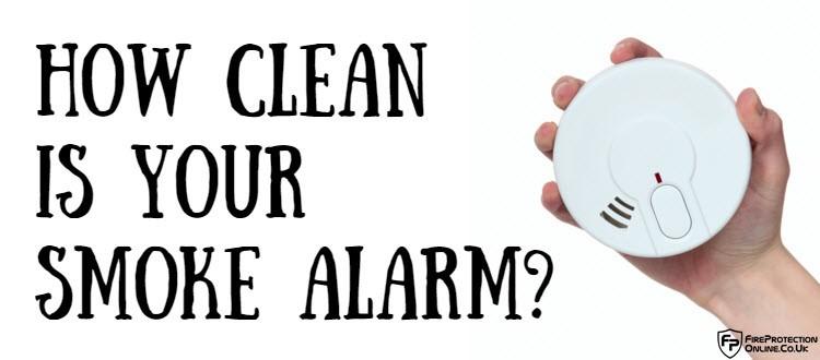 clean smoke alarm